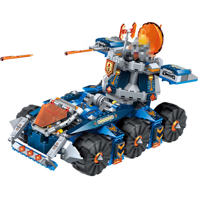 LELE Nexo Knights Future Building Blocks Nexus Tower Defense Chariot Educational Toys for Children Compatible 678 Pcs lele knights future castle warrior model