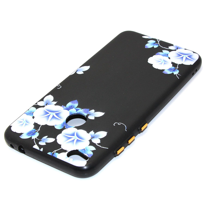 3D Relief flower silicone case huawei p8 lite 2017 honor 8 lite (28)