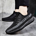 2017 Spring New Fashion Casual Men Shoes knitting Flats Breathable Graffiti Mesh Superstar Shoes Chaussure Homme Plus Size 39-46