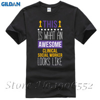 Erkek Erkek Serin Başar Klinik Sosyal Işçi T-shirt Kısa Kollu Pamuk Özel T-Shirt Boy Hip Hop Erkekler T-Shirt Tops