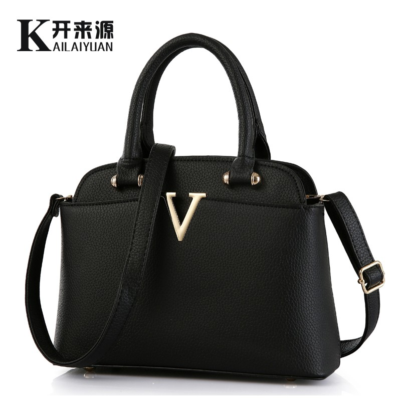 KLY 100% Genuine leather Women handbags 2019 New Ms fresh package of medium fashion handbags Shoulder Messenger Handbag