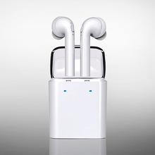 New Twins TWS True Wireless Bluetooth Headset Mini Bluetooth 4.2 Wireless Earpiece Earbuds In-Ear Earphone For Iphone 7 Android