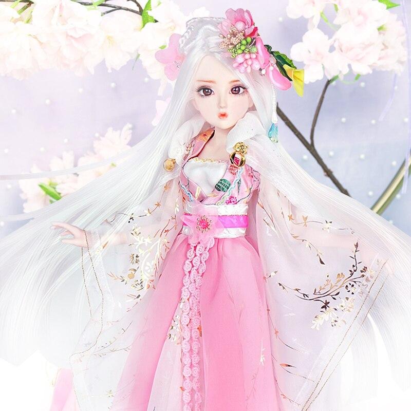 Journal Queen 1/4 BJD Blyth poupée mixte corps fleur fée avec maquillage, y compris les vêtements, chaussures, cheveux et boîte cadeau jouet glacé, SD
