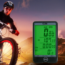 Проводной велокомпьютер свет режим Touch велосипедов компьютер Велоспорт Спидометр пробега Секундомер с ЖК-дисплей Подсветка (английская версия)
