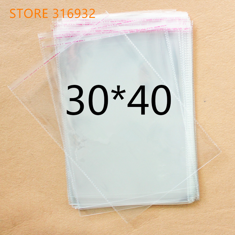 Clear Resealable Cellophane/BOPP/Poly Bags 30*40cm  Transparent Opp Bag Packing Plastic Bags Self Adhesive Seal 30*40 Cm(China)