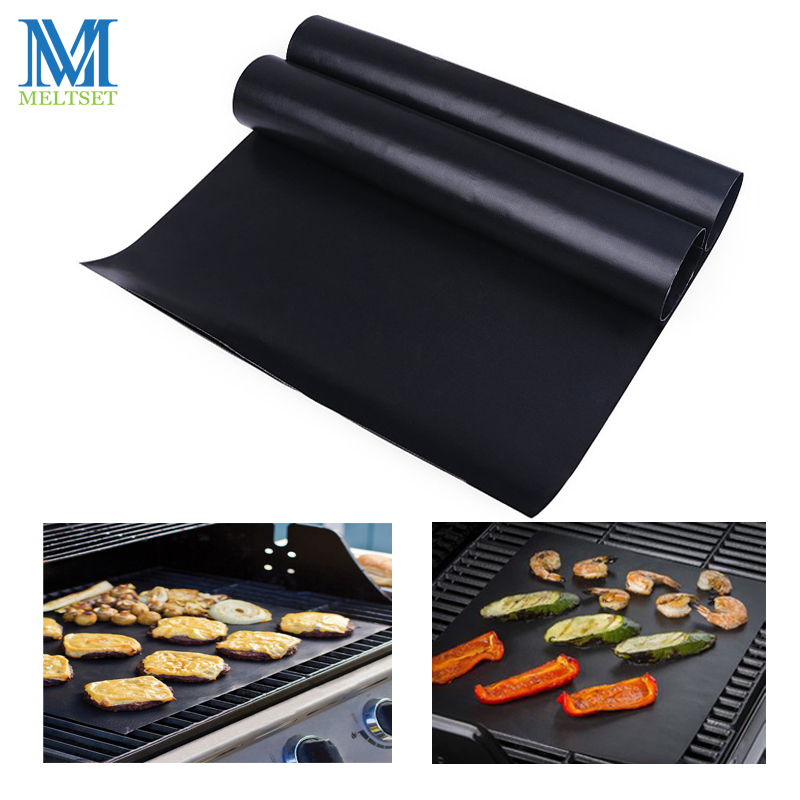 2pcs Lot 0 2mm Thick Ptfe Barbecue Grill Mat Non Stick