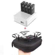 Ladegerät Für DJI Tello 4in1 Multi Batterie Lade Hub + Tragetasche Lagerung Box Drone Flug Batterie Schnell Lade UNS /EU