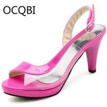 Womens Spike Heel Slingback Peep Toe Sandals Shoes Summer Women Plus Size 33 White Black Pink Blue Green