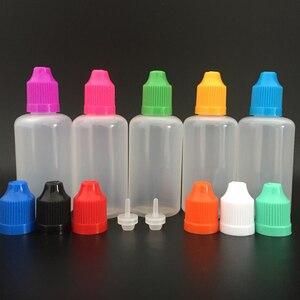 Image 5 - 1000 stücke 50ml PE Weiche Leere Kunststoff Dropper Flasche mit Kind proof Caps und lange dünne tipps E flüssigkeit nagel Gel Nachfüllbare Flasche