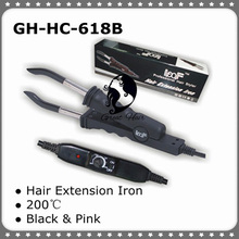 Temperature Constant GH HC618B W Hair Extension Iron/Connector Pink & Black Color extension connector machine styling tools