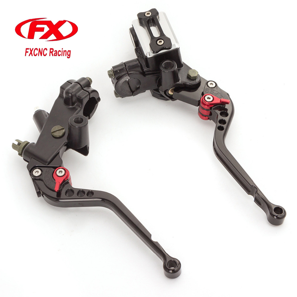 FX CNC 7/8 22MM Universal Motorcycle Clutch Brake Lever Master Cylinder For 125CC-300CC Yamaha Suzuki Kawasaki Honda MT125 R125 universal motorcycle brake fluid reservoir clutch tank oil fluid cup for mt 09 grips yamaha fz1 kawasaki z1000 honda steed bone