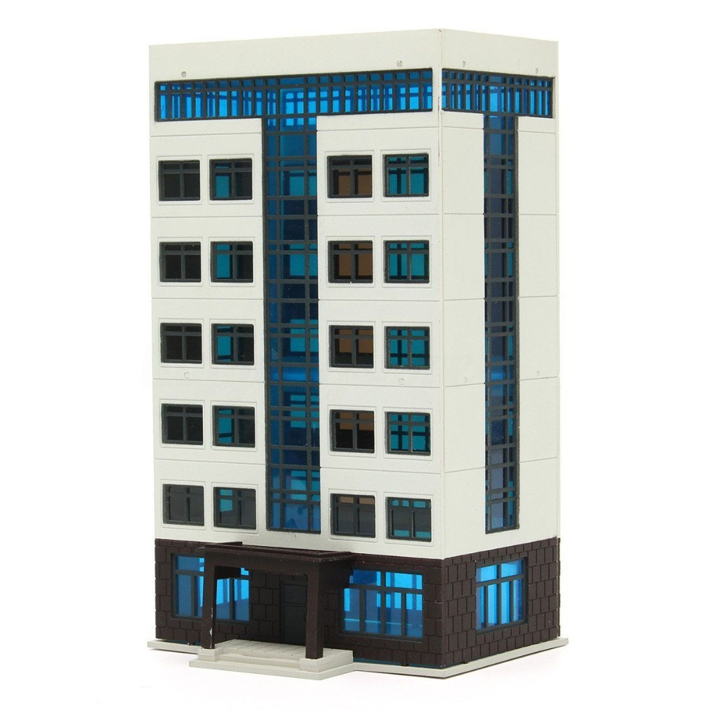 Apartment Building DIY Assemble Model City Street Downtown Scenery Layout Toy 1:144 N Scale Building Model Apartment Building DIY Assemble Model City Street Downtown Scenery Layout Toy 1:144 N Scale Building Model