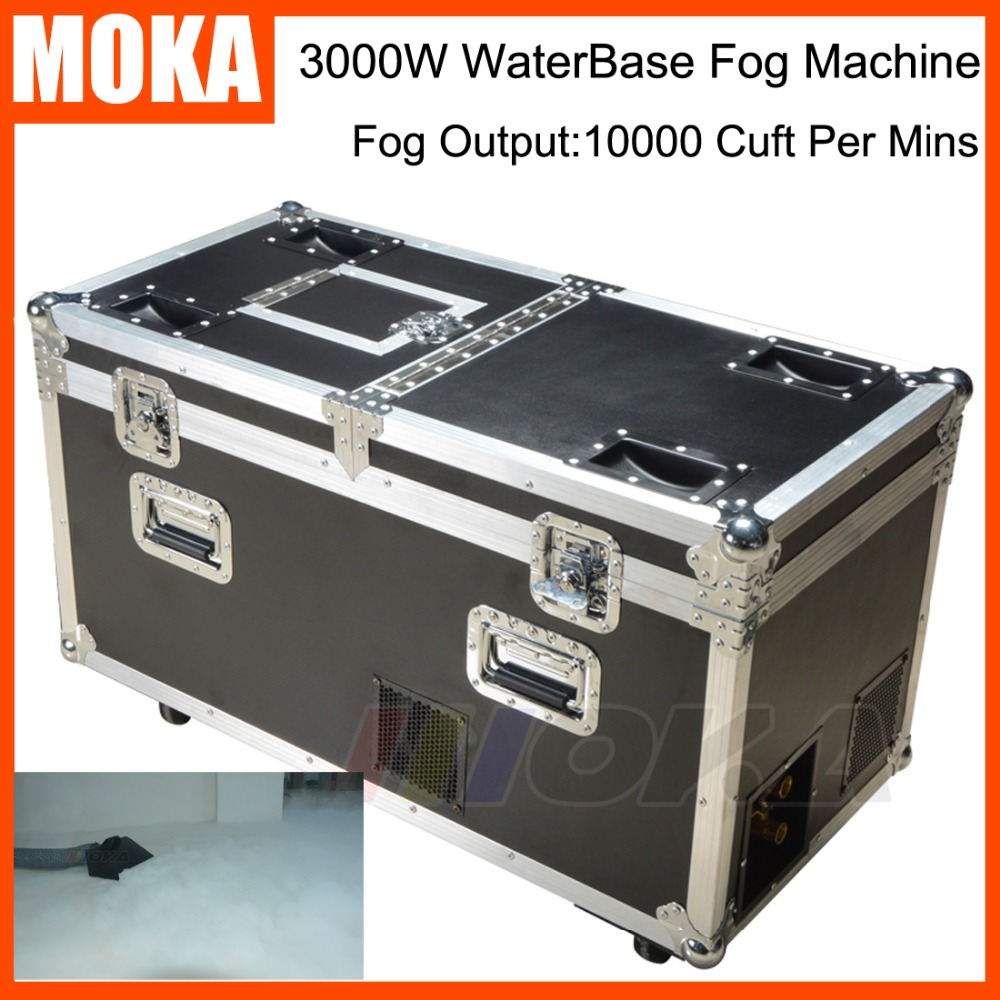 Big size 3000W WaterBase Fog Machine Dry Ice Effect Stage Low Ground Fog Smoke Machine mist water low fog machine 2 big tanks