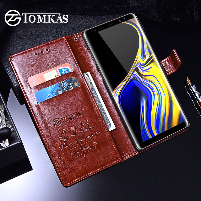 TOMKAS Wallet Case For Samsung Galaxy Note 9 8 S7 Luxury Leather Coque Cases For Samsung Galaxy S9 S8 Plus Case Cover S7 Edge