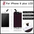 5 pcs lotquality ecranl pantalla para iphone 6 plus display lcd substituição da tela de toque 5.5 digitador assembléia dhl frete grátis