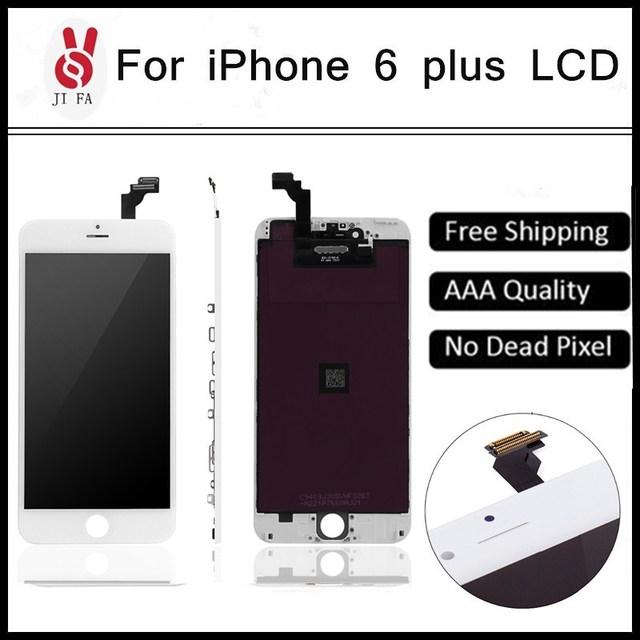 5 unids lotquality ecranl para iphone 6 plus pantalla lcd pantalla táctil pantalla 5.5 reemplazo digitalizador asamblea envío libre de dhl