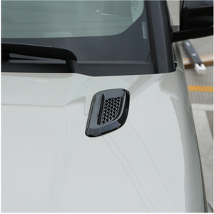 Image 3 - Car Accessory For Land Rover Discovery Sport LR4 For Range Rover Evoque Vogue Hood Air Vent Outlet Wing Trim Stickers 2pcs
