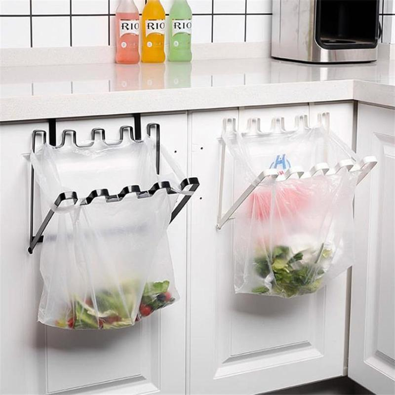 Door Back Hanging Garbage Bag Holder Kitchen Cupboard Stand Trash Storage Rack Plastic Kitchen hanging trash rackDoor Back Hanging Garbage Bag Holder Kitchen Cupboard Stand Trash Storage Rack Plastic Kitchen hanging trash rack
