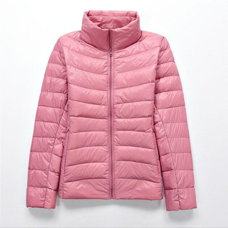 2018 Autumn Winter 90% White Duck Down Ultra Light   Jacket   Women   Basic     Jacket   Coat Warm Female Zip Pocket Brand Down   Jacket   Parka