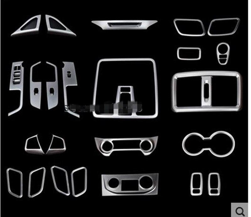 Center Console Panel Stickers Sequin Frame Interior Decoration For Hyundai Creta IX25 2016 Auto Accessories Car-styling коврики в салонные ниши синие ix25 для hyundai creta 2016