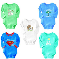 Baby Romper Unisex Baby Clothing Cartoon Bear Pattern White Conjoined Creeper Baby Costume Dress Outfit Long
