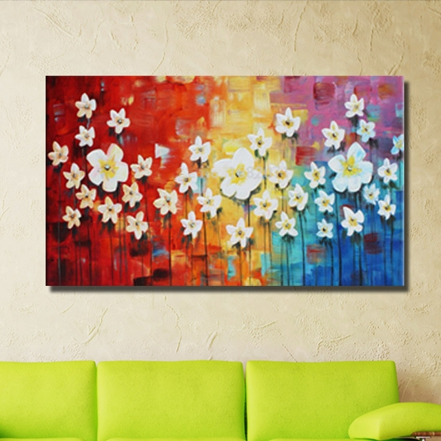 Nice design lovely photo no frames hand painted abstract canvas ...
