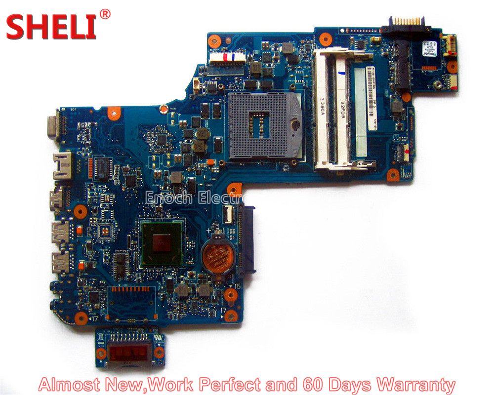 SHELI H000042250 Laptop Motherboard For Toshiba Satellite C870 C875 L870 L875 S875 HM76 PLF/PLR/CSF/CSR UMA HD 4000 System Board nokotion new h000052840 for toshiba satellite c870 l870 l875 laptop motherboard pga988b slj8e hm76 ddr3 hd7610m video card