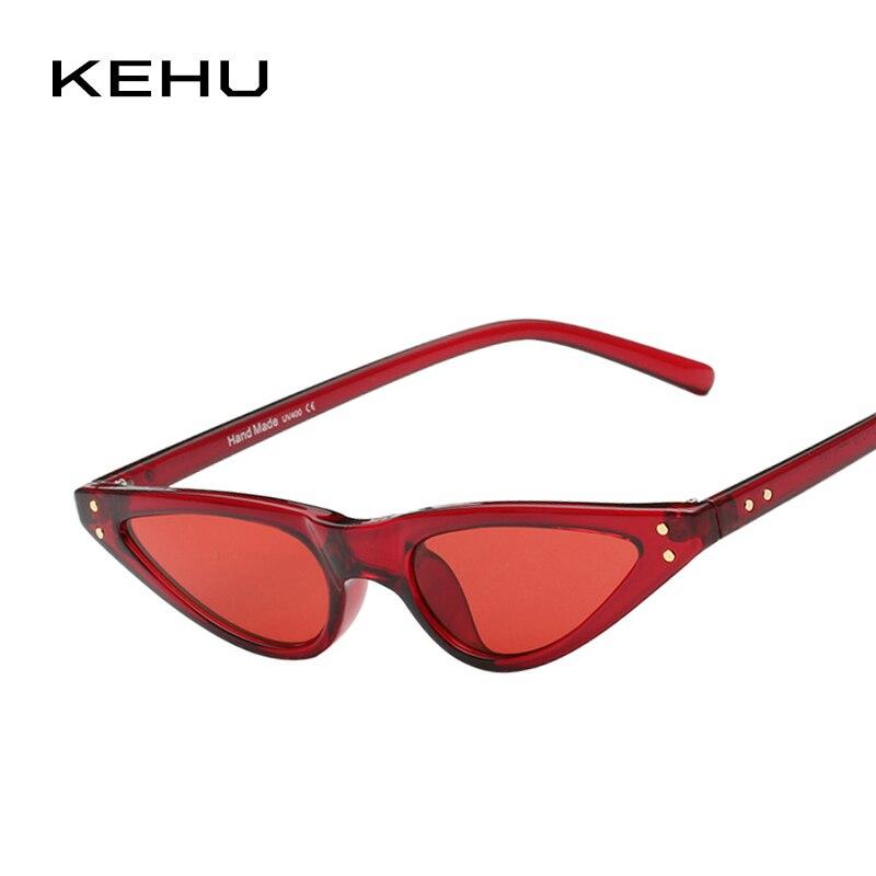 KEHU Retro Windproof Glasses New Style Cat Eye Frame Sun pro