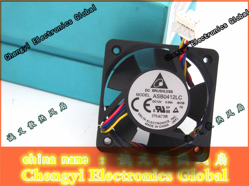 Delta 4013 ASB0412LC -BV38 12V 0.06A 4Wire Cooling Fan 4cm 40mm 40mm*40mm*13mm a3c40094788 delta afc0712de 7k1m 38010022 double ball 4 wire pwm12v cooling fan for fujitsu for siemens for primergy rx300 s5 s6