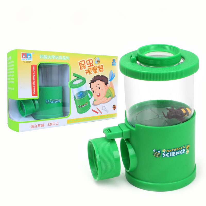 Child Toy Insect Trap Viewer Scientific Exploration Microscope Teaching Toy Magnifying Glass for Birthday Gift