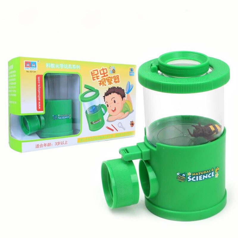 Kind Spielzeug Insektenfalle Viewer Wissenschaftliche Erforschung Mikroskop Lehre Spielzeug Lupe für Geburtstagsgeschenk