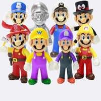 13cm Super Mario Bros Bowser Luigi Koopa Yoshi, Mario Wario de Odisea Donkey Kong sapo de acción de PVC figuras, modelos, muñecas Juguetes