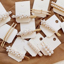 Hair Accessories Pearl Metal Hair Clips For Women Hairpins Girls Bobby Pin Hairgrip Barrette 3 4 5pcs pearl hair clips women hairpin girls hairpins barrette bobby pin hairgrip hair accessories dropship ins hot sell new