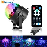 LumiParty LED Crystal Magic Ball 3W Mini Sound Activated RGB Stage Lighting Effect Party Disco Club