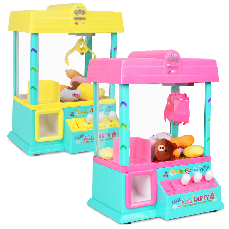 Children Mini Claw Arcade Crane Toy Coin Game Grip dolls Machine Capsule with Puzzle balls Party Educational Toy Christmas Gift led screen toy crane machine board kits arcade toy crane mainboard coin operated doll machine claw machine