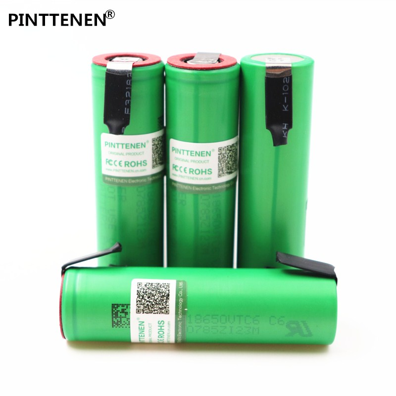 100% VTC6 3.7V 3000 mAh 18650 Li-ion Rechargeable Battery 30A Discharge for Sony US18650VTC6 batteries + DIY Nickel Sheets new 10pcs vtc6 3 7v 3000mah rechargeable li ion battery 18650 for sony us18650vtc6 30a electronic cigarette toys tools flashligh