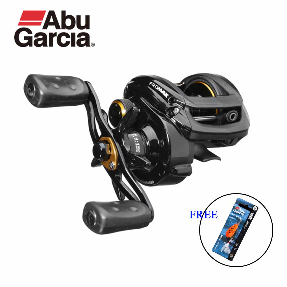 Abu Garcia Pro Max Reel Fishing Low Profile Baitcasting bobines Goutte d'eau De Roue 7.1: 1 8 KG Puissance 7 + BB obtenir Original Leurre livraison