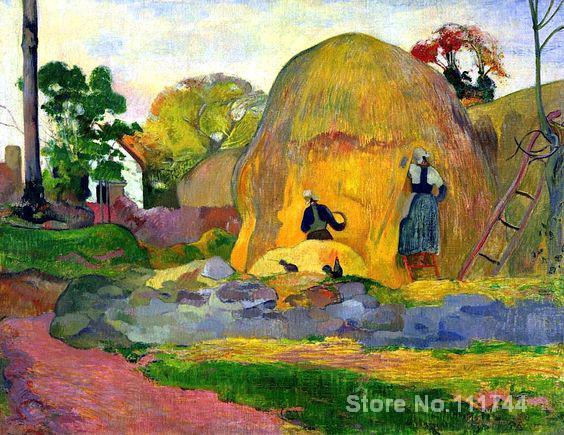 Картины пола гогуина золотой урожай художественный пейзаж Искусство высокого качества Ручная роспись