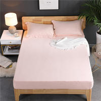 High 30cm Mattress Cover Twin Full Queen Size Bed Fitted Sheet 1 Piece Solid Color Bed Sheet Sabanas Bed Sheets Free Shipping