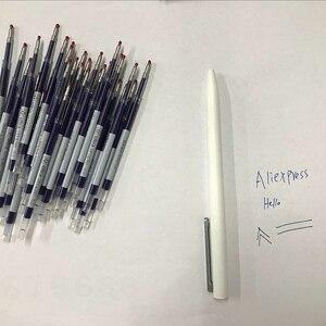 Image 1 - 0.5 مللي متر الأزرق اللون الأحبار إعادة الملء قضبان الأزرق ل شاومي الأبيض القلم توقيع القلم البلاستيك القلم استبدال فقط ل النسخة القديمة شاومي القلم