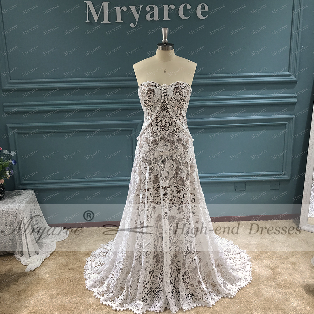 Crochet Wedding Dress.Us 262 65 15 Off Mryarce Unique Wedding Dress 2019 Luxury Crochet Lace Beau Gown Boho Chic Hippie Bridal Gown Bell Sleeves In Wedding Dresses From
