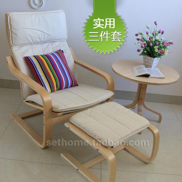 Ikea estilo de tres piezas de madera curvada balcones silla sillón ...