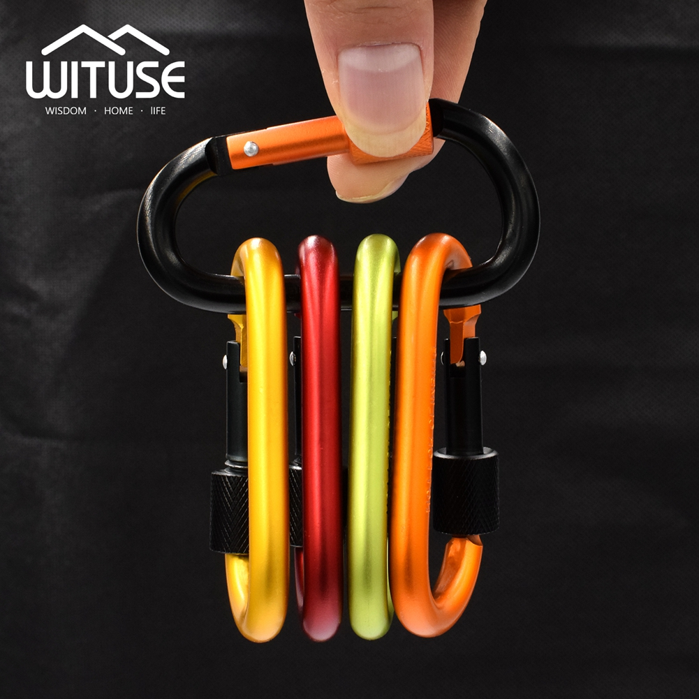 Motivated Max Load 50kg 5 Pcs/bag Aluminum Carabiner Water Bottle Buckle Hook Holder Clip Camping Hiking Key Chain Colorful Useful Tool In Pain Apparel Sewing & Fabric