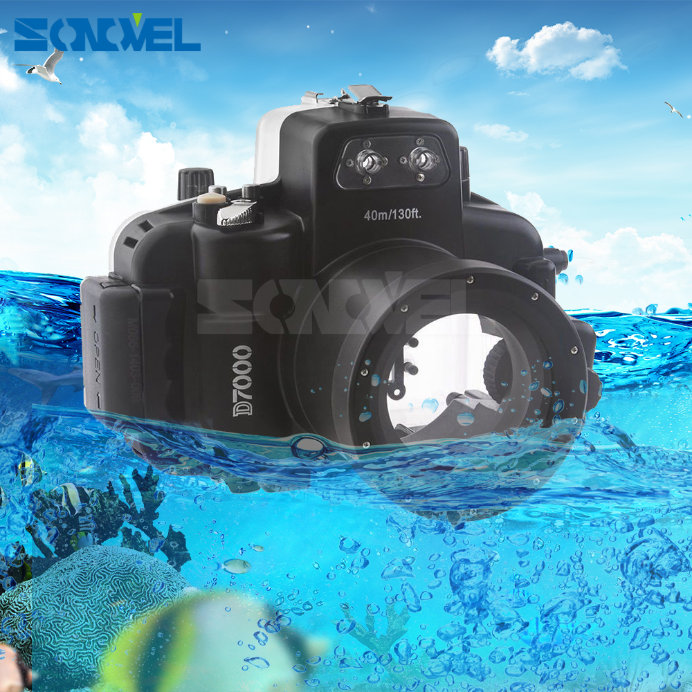Meikon 40M Waterproof Underwater Housing Case Bag Diving swimming in summer Underwater shooting for Nikon D7000 Camera meikon 40m waterproof underwater camera housing case bag for canon 600d t3i