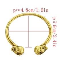 лучшая цена Punk Bangle Cool Skull Style Fashion Jewelry Unisex Gold Silver Bracelet Gifts