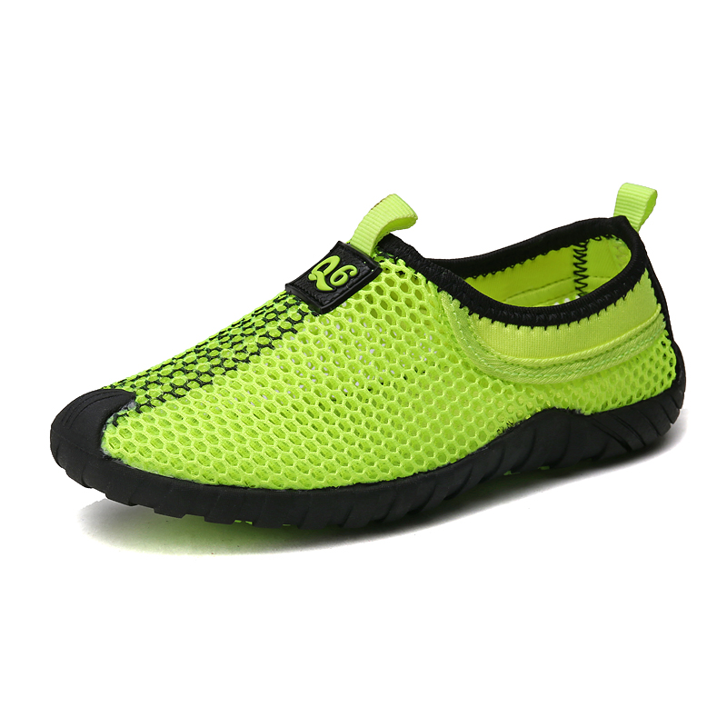 Summer Boys Girls Breathable Mesh Sneaker Shoes Toddle Kids/Little Kids Casual Shoes lightweight Slip-On Fluorescent Green Blue baijiami 2017 new children solid breathable slip on pu casual shoes boys and girls spring summer autumn flat bottom shoes