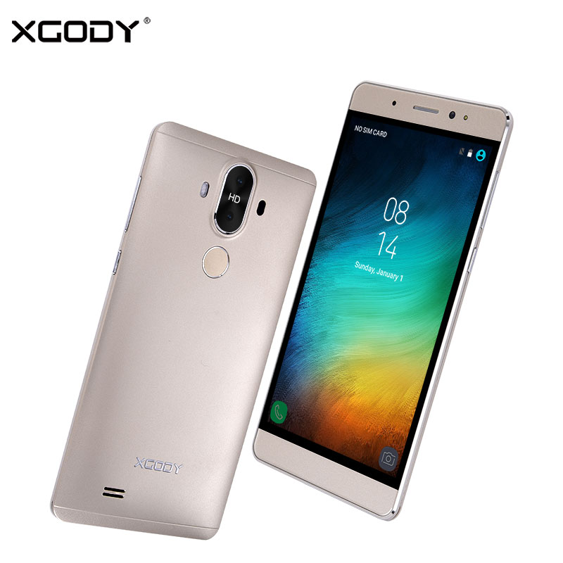 In Stock XGODY 3G Unlock Dual Sim Touch Mobile Phone Android 5 1 1G 16G Smartphone