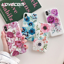 LOVECOM Vintage Colorful Flower Phone Cases For iPhone 11 Pr