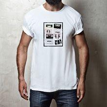 RETRO CASSETTE TAPE T-SHIRT 100% COTTON MENS VINTAGE STEREO HIFI MUSIC TEE SHIRT New T Shirts Funny Tops Tee
