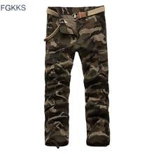 FGKKS 2017 Neue Ankunft Marke Kleidung Herbst Männer Hosen Mode Military Herren cargo Pants Qualität Baumwolle Casual Hosen Plus Größe
